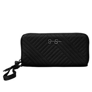 JESSICA SIMPSON black quilted wristlet wallet